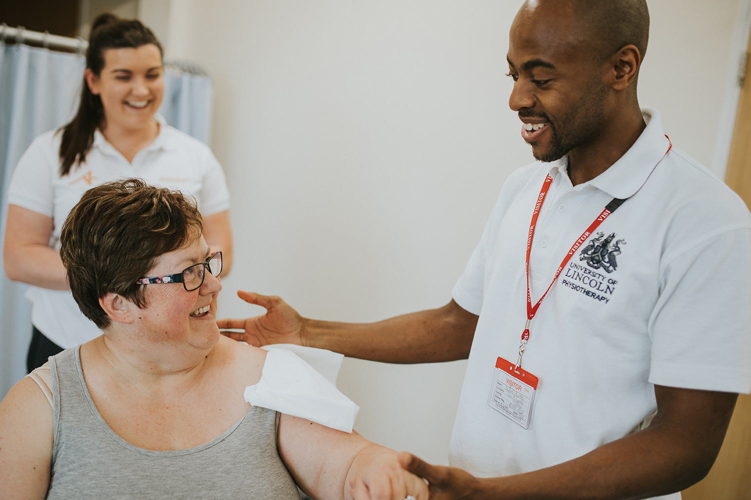 Physiotherapy student placement with Gameli